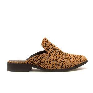 5⭐️ Camel Black Leopard Mule Ballerinas- Shoe